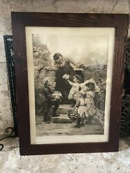 Antique Grandfather's Birthday Fred Morgan Limited Print Wood Vintage Frame
