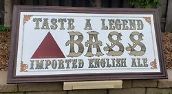 Taste A Legend Bass Imported English Ale Sign Mirror Man Cave