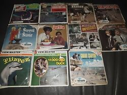 Lot Of 11 Rare Vintage Viewmaster Reels,sword In The Stone,the Lone Ranger++139