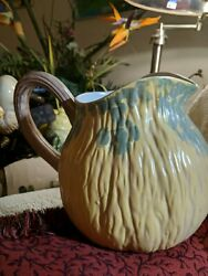 Fitz And Floyd Harvest One Look And You Know Pumpkin Pitcher 8x11. Vintage.1989