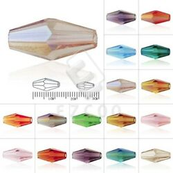 50/72pcs Crystal Loose Spacer Beads Double Cone Jewelry Necklace Making 8mm/12mm