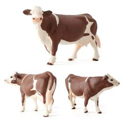 Miniatures Cows Plastic Models Cow Action Figure Simulated Animal Figurines
