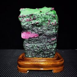 17.38blarge/heavy Extremely Rare Natural Ruby Zoisite Quartz Crystal W/st M1415