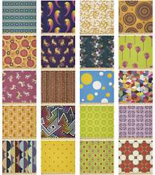 Ambesonne Retro Elements Microfiber Fabric By The Yard For Arts And Crafts