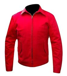 Menand039s Rebel Without A Cause James Dean Red Cotton Jacket With T-shirt