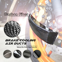 Motorcycle Carbon Fiber Brake Rotor Cooling System Air Duct For Benelli 502c