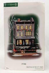 """Department 56 Christmas In The City """"21 Club"""" Retired Cic Dept 56 Very Rare"""