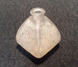 Vintage Arys Art Deco Frosted Glass Perfume Bottle Laliquefrance No Stopper
