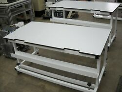60w X 30d X 30h Laminate Top Laboratory Bench/table W/ Castors And Wheel Stops