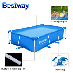 10ft Inflatable Swimming Pool Giant Above Ground Family Pool For Kids Adults