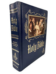 Masonic Holy Bible King James Version Reference Red Letter Heirloom Fast Ship