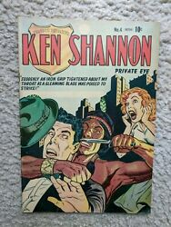 Ken Shannon No. 4 Vg+/f Canadian Edition Golden Age Crime