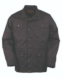 Outback Trading Co. Waxed Cotton Jacket- Black Large 30306