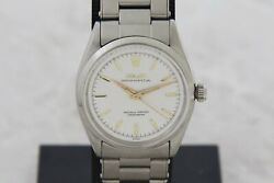 Vintage Rolex Oyster Perpetual Automatic Cal.1030 Stainless Steel 34mm Ref 6564