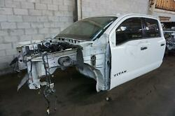 Local Pickup Only Crew Cab Body Shell Glacier White Oem Nissan Titan 2017-19