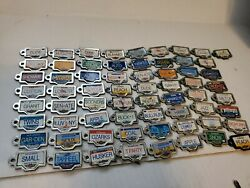 Micro Machines 1990 Galoob License Plate Collection 65 Plates With Rare Buckle