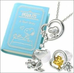 Jwell Snoopy Jewelry Box With Necklace And Earrings Set Original Japan Limited