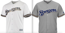 Majestic Cool Base Milwaukee Brewers Official Jersey Men Mlb Baseball Authentic