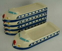 Bullet Train Kid's Lunch Tray Set Of 5