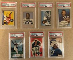 Psa 1948 Leaf Rookie 20 And Every Career Card Signed Taliaferro 1st African Amer