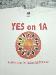 Vintage California Native American Indian Self Reliance Yes On 1a T Shirt 2xl