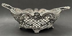 Antique 1890 British London Susannah Brasted Sterling Silver And Glass Dish