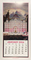 The Grand Budapest Hotel Rare Promotional 2014 Embossed Calendar Wes Anderson