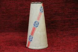 Antique 1930 1 Pint Waxed Paper Cone Milk Container Gramana Dairy Co.