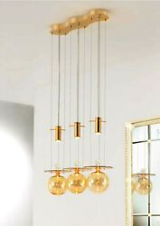 Chandelier Hanging Modern In Murano Glass Original Made In Italy 3 Light Led