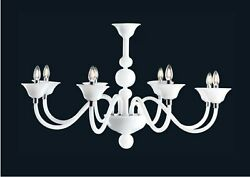 Chandelier Modern Of Design In Murano Glass Made By Hand In Italy 8 Light