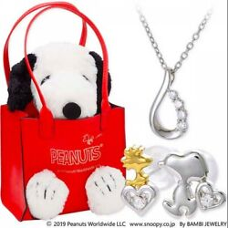 Jwell X Snoopy Silver Necklace And Earrings Set Knil0037-kpil0004-k2000008 Ltd Jp