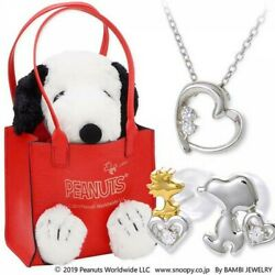 Jwell X Snoopy Silver Necklace And Earrings Set Knil0038-kpil0004-k2000008 Ltd Jp