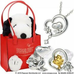 Jwell X Snoopy Silver Necklace And Earrings Set Knia0004-kpil0003-k2000008 Ltd Jp