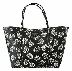 Dolce And Gabbana Bag Womenand039s Black Palm Leaves Beatrice Leather Purse Tote