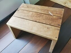 Vintage Wooden Wood Step Stool Child Bench / Plant Stand / Cottagecore Handmade