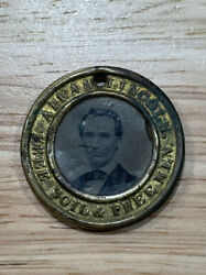 1860-61 Lincoln / Hamlin Presidential Election Back-to-back Ferrotype, Free Ship