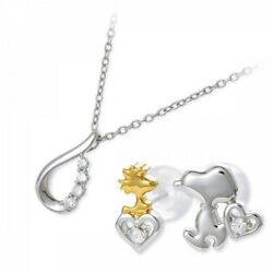 Jwell X Snoopy Silver Necklace And Earrings Set Knil0037-kpil0004 Limited Japan