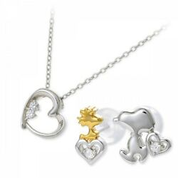 Jwell X Snoopy Silver Necklace And Earrings Set Knil0038-kpil0004 Limited Japan