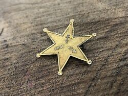 Authentic Antique 10k Gold Star Police Badge Pin