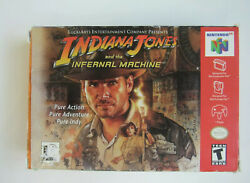 Box Only - - Indiana Jones And The Infernal Machine - - Authenticnintendo 64 N64