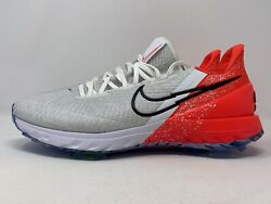 Nike Air Zoom Infinity Tour Golf Shoes White Infrared Ct0540 124 Size 10.5 Nolid