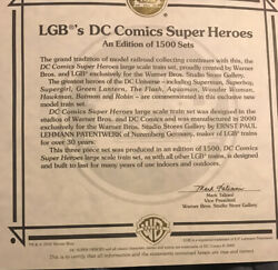 Lgb Lehmann Superheroes Train Certifice Of Authentcity Only For One Of 1500