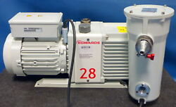 Edwards E2m28 Dual Stage Rotary Vane Vacuum Pump W/mf30 Filter A462-33-000