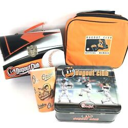 Lot Of Baltimore Orioles Dugout Club Metal Lunch Boxestote And Cup And Accessories