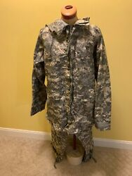 Us Military Orc Industries Camo Improved Rainsuit Parka Jacket And Pants Med Nwot