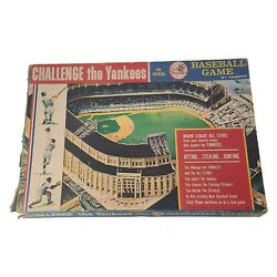 Vintage 1964 Challenge The Yankees Mlb Board Game By Hasbro