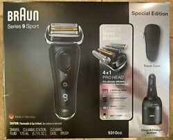BRAUN Series 9 Sport 9310CC Wet amp; Dry Clean amp; Charge System Special Edition