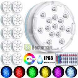 Lot 16 Colors Submersible Led Pool Light Underwater Hot Tub Pond Lights W/remote