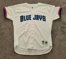 1997-1999 Authentic Russell Athletic Blank Toronto Blue Jays Home Jersey Sz 52