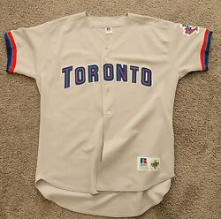 1997-1999 Authentic Russell Athletic Blank Toronto Blue Jays Road Jersey Sz 48